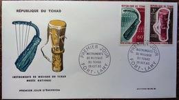 Enveloppe Premier Jour: Instruments De Musique Du Tchad - 26/10/1965 (60 + 3 F) - Tschad (1960-...)