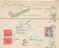 Schweiz / Helvetia - 1949 - 40 & 5c Portomarke / Postage Due On Illustrated Commercial Cover From Argentina - Portomarken