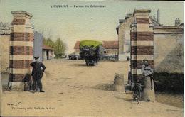 Cpa LIEUSAINT-77- Ferme Du Colombier Couleur Brillante Pers.édit: Th. Louis Cqfé De La Gare - France