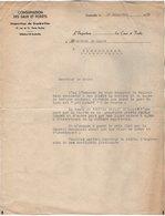 VP14.417 - GUEBWILLER 1950 - Lettre De Mr L'Inspecteur Des Eaux Et Fôrets à Mr Le Maire De PIERREPONT - Old Paper