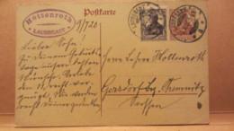 DR: GA Postkarte Mit 15 Pf Germania + 15 Pf Zusatz Von LAUBEGAST Nach Gersdorf (Bez. Chemnitz) Vom 9.7.20 Knr:  P 116 I - Deutschland