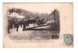 Militaire Militaria 7eme Regiment De Dragons Embarquement Pour Le Nord 19 Octobre 1902 Dragon Cavalerie Cheval Train - Regiments