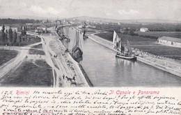 CARTOLINA  - RIMINI - IL CANALE E PANORAMA - VIAGGIATA DA RIMINI ( FORLI ) PER LODI - Rimini
