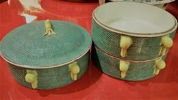 BOITES REPAS GIGOGNES PORCELAINE JADE - Art Asiatique