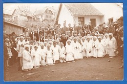 Privat-Foto-AK; Rumänien; Steierdorf, Anina; 1929 Komunion Mit Kaplan Sigmuth??? - Fotografie