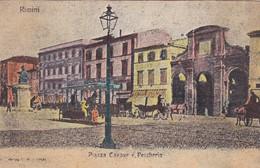CARTOLINA - POSTCARD - RIMINI - PIAZZA CAVOUR E PESCHERIA - Rimini