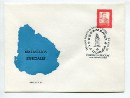 EXPOSICION FILATELIA DE AMERICA Y EUROPA ESPAMER 1987 LA CORUÑA OBLITERES SOBRE MATASELLOS ESPECIALES URUGUAY SPC -LILHU - Exposiciones Filatélicas