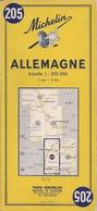 ALLEMAGNE - CARTE ROUTIÈRE MICHELIN N° 205 - (200.000ème) - 1965 - Cartes Routières
