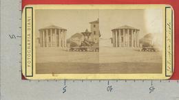 ITALIA - FOTOGRAFIA STEREOSCOPICA SU CARTONCINO - ROMA - Tempio Di Vesta - Stereoscopes - Side-by-side Viewers