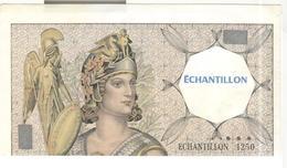 Billet Echantillon 1250 Tronqué France - Test De Distributeur De Billets -  TTB+ - Specimen