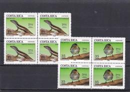 Costa Rica Nº 559 Al 560 En Bloque De Cuatro - Costa Rica