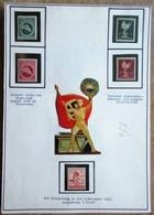 DR Mi. Nr. 900-903,906 Postfrisch ** Auf Selbstgestaltetem Sammlerblatt Foto Gladiator Mit Hackenkreuzfahne - Allemagne