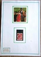 DR Hitler Mi. Nr. 744 Ungebraucht Auf Selbstgestaltetem Sammlerblatt Foto Adolf Hitler Mit Kindern - Allemagne