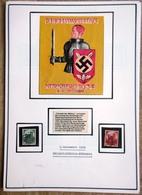 DR Reichsparteitag Mi.Nr. 546,547 Auf Selbstgestaltem Sammlerblatt Mit Bild - Allemagne