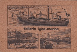 CARTOLINA - POSTCARD -  IN SUGHERO - RIMINI - BELLARIA IGEA - MARINA - Rimini