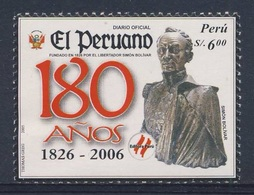 "Peru 2006 Mi 2107 ** 180th Ann. Official Daily Newspaper ""El Peruano""/ Zeitung - Founder Simon Bolivar / Journal - Peru"