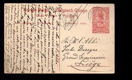 Congo - Entier Stibbe EP 43 VUE 2 TRAIN - ELISABETHVILLE  1913 -  PL5 - Ganzsachen