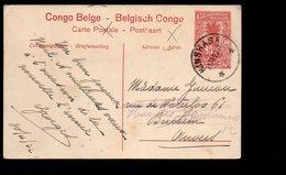 Congo - Entier Stibbe EP 43 VUE 48 - KINSHASA Type 5 - 2 TIMBRES MANQUANTS -  PL5 - Ganzsachen