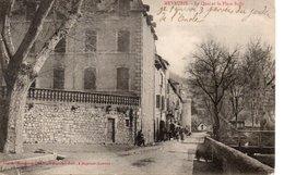 MEYRUEIS : Le Quai Et La Place Sully - Meyrueis