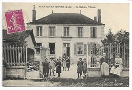 ROUVRES Les VIGNES 1934 ECOLE MAIRIE Près Lignol Bar Sur AUBE Brienne Le Château Arcis Vendeuvre Barse Troyes Champagne - Autres Communes