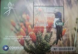 RL) 2018 ECUADOR, XII LATIN AMERICAN BOTANICAL CONGRESS, BIRDS, NATURE, FLOWERS, MNH - Ecuador