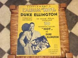 DUKE ELLINGTON  L'Album Hot JAZZ Editions Salabert PARIS 1944 - Jazz