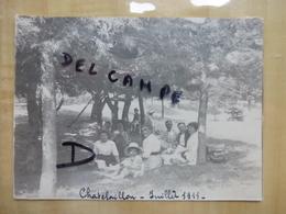 17 CHATELAILLON - FAMILLE BOURGEOISE EN FORET 1911 PHOTO - Châtelaillon-Plage