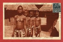 Paris Exposition Coloniale 1931 Tam Tam Danseuses De Foulahs Siguiri Danse Afrique Samory Jeune Fille Sein Nu & Enfants - Afrique Du Sud, Est, Ouest