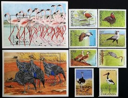 # Uganda 1990**Mi.813-22 Native Birds , MNH [20;21] - Pájaros