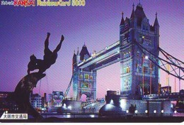 Carte Prépayée Japon * ANGLETERRE (306) GREAT BRITAIN Related * ENGLAND Prepaid Card Japan * TOWER BRIDGE * LONDON - Landscapes