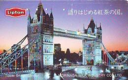 Télécarte Japon ANGLETERRE (307) GREAT BRITAIN Related * ENGLAND Phonecard Japan * TOWER BRIDGE * LONDON - Paysages