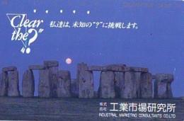Télécarte Japon ANGLETERRE * STONEHENGE  (308) GREAT BRITAIN Related * ENGLAND Phonecard Japan * - Landschappen