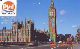 Télécarte Japon ANGLETERRE * BIG BEN  (309) GREAT BRITAIN Related * ENGLAND Phonecard Japan * - Paysages