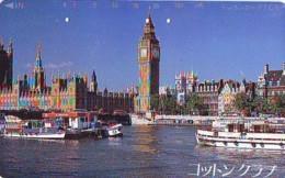 Télécarte Japon ANGLETERRE * BIG BEN  (310) GREAT BRITAIN Related * ENGLAND Phonecard Japan * - Paysages