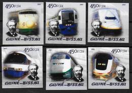 GUINEE BISSAU    N° 1822/27  * *  NON DENTELE Tgv Japonnais Trains Jules Verne - Trains