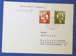 Germania 1952 Unif.39/40 On Cover FDC 17/09/52 VF - Briefe U. Dokumente