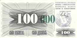 BOSNIE HERZEGOVINE 100000 DINARA 1993 XF+ P 56 G - Bosnie-Herzegovine