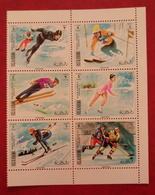 Ras Al Khaima 1970 - Winter Olympic Games Sapporo Perf Deluxe S/s Mi 377-382 A MNH Sports Medals Winners - Ra's Al-Chaima