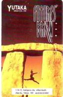 Télécarte Japon ANGLETERRE * ENGLAND * STONEHENGE  (324) GREAT BRITAIN Related *  Phonecard Japan * - Landschaften