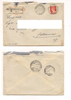 8076 Raccomandata Annullo ROMA-SERPENTARA-AEROPORTO 1939 Imperiale £1,75 Isolato X Catania - 1900-44 Vittorio Emanuele III