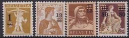 Suisse  .    Yvert   145/148       .    *       .   Neuf  .  /   .    Mint-hinged - Suisse