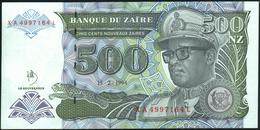 ZAIRE - 500 Nouveaux Zaires 15.02.1994 {Note Printed By HDMZ} UNC P.64 A - Zaïre