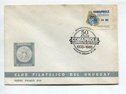 50 AÑOS CONAPROLE COOPERATIVA DE TODOS 1935-1985 1986 OBLITERES SOBRE CLUB FILATELICO URUGUAY SPC -LILHU - Uruguay