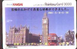 Carte Prépayée Japon * ANGLETERRE * ENGLAND * LONDON (326) GREAT BRITAIN Related *  Prepaid Card Japan * - Landscapes
