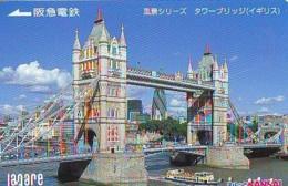 Carte Prépayée Japon * ANGLETERRE * ENGLAND * TOWER BRIDGE * LONDON (329) GREAT BRITAIN Related *  Prepaid Card Japan * - Landscapes