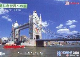 Carte Prépayée Japon * ANGLETERRE * ENGLAND * TOWER BRIDGE * LONDON (330) GREAT BRITAIN Related *  Prepaid Card Japan * - Landscapes