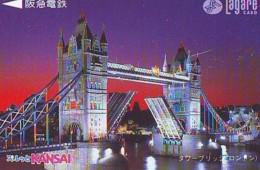 Carte Prépayée Japon * ANGLETERRE * ENGLAND * TOWER BRIDGE * LONDON (331) GREAT BRITAIN Related *  Prepaid Card Japan * - Paesaggi