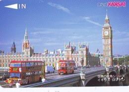 Carte Prépayée Japon * ANGLETERRE * ENGLAND * LONDON (333) GREAT BRITAIN Related *  Prepaid Card Japan * - Landscapes