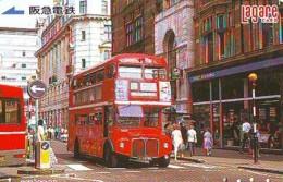 Carte Prépayée Japon * ANGLETERRE * ENGLAND * BUS (336) GREAT BRITAIN Related *  Prepaid Card Japan * - Landschaften