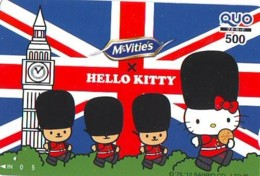 Carte Prépayée Japon * ANGLETERRE * ENGLAND * HELLO KITTY (337) GREAT BRITAIN Related *  Prepaid Card Japan * - Paysages